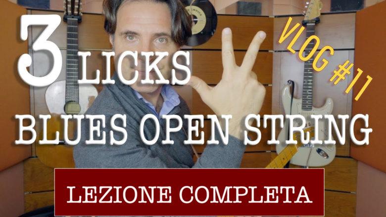 blues licks open strings
