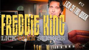 Lick Blues in stile Freddie King