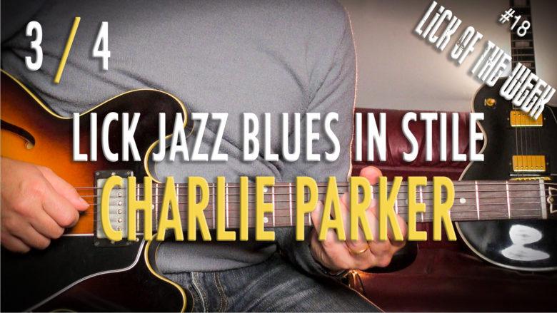 Lick Blues Bebop Charlie Parker