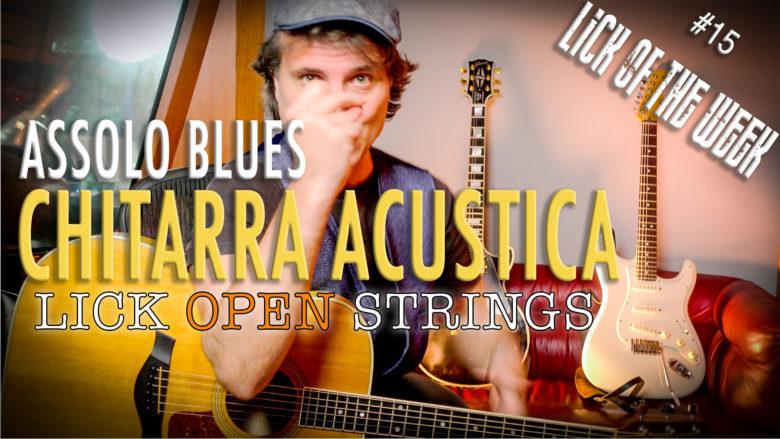 Assolo blues per chitarra acustica
