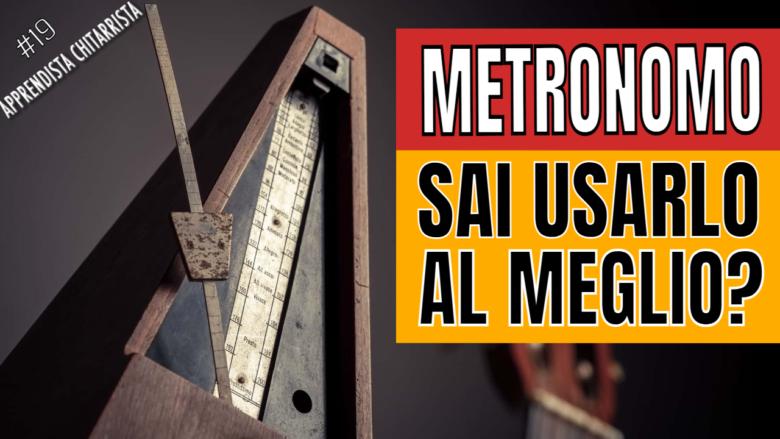 come usare il metronomo